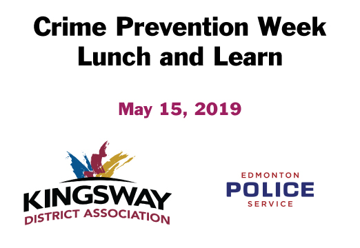 Crime Prevention Week - Lunch and Learn